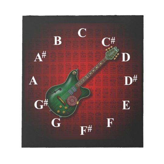 KuuMa Guitar Clock Notepad