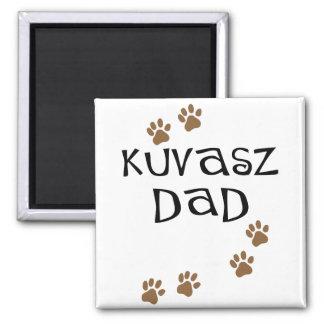 Kuvasz Dad 2 Inch Square Magnet