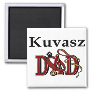 Kuvasz Dad Gifts 2 Inch Square Magnet