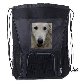 Kuvasz Dog Drawstring Backpack