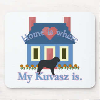 Kuvasz Home Is Mouse Pad