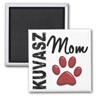 Kuvasz Mom 2 2 Inch Square Magnet