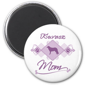 Kuvasz Mom 2 Inch Round Magnet