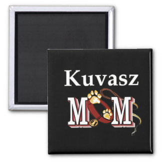 Kuvasz Mom Gifts 2 Inch Square Magnet