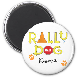 Kuvasz Rally Dog 2 Inch Round Magnet