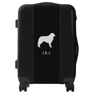 Kuvasz Silhouette with Custom Text Luggage