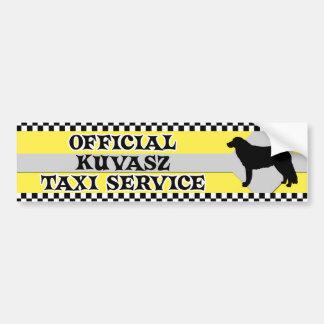 Kuvasz Taxi Service Bumper Sticker Car Bumper Sticker