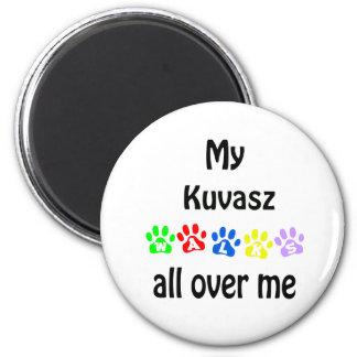 Kuvasz Walks Design 2 Inch Round Magnet