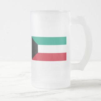 kuwait 16 oz frosted glass beer mug