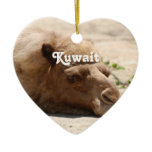 Kuwait Camel Ceramic Ornament