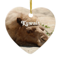 Kuwait Camel Ceramic Ornament
