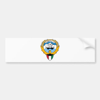 Kuwait Coat Of Arms Car Bumper Sticker