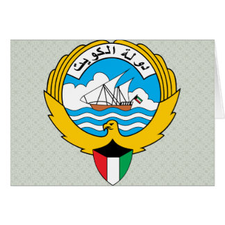 Kuwait Coat of Arms detail Greeting Card