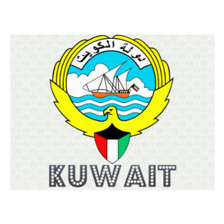 Kuwait Coat of Arms Postcard