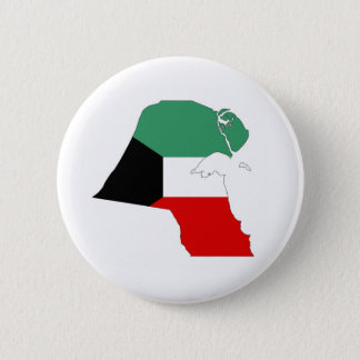 kuwait country flag map shape silhouette button