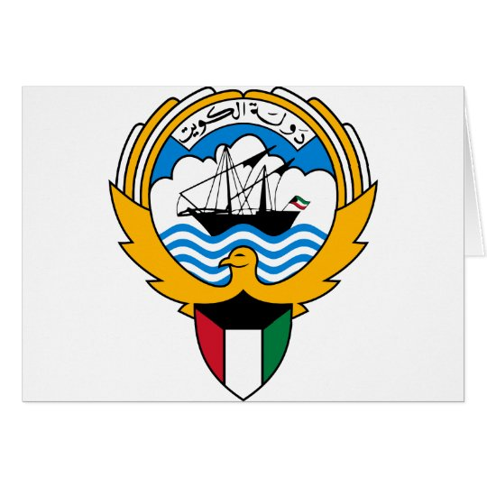 kuwait emblem card