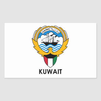 KUWAIT - emblem/flag/coat of arms/symbol Rectangular Sticker
