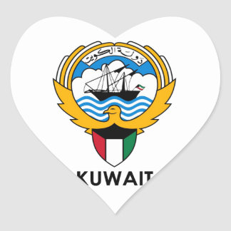 KUWAIT - emblem/flag/coat of arms/symbol Heart Sticker