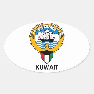 KUWAIT - emblem/flag/coat of arms/symbol Oval Sticker