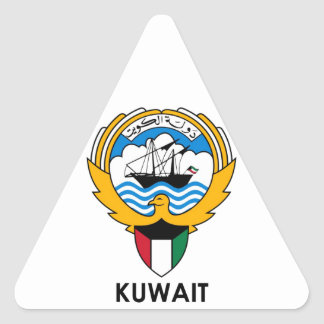 KUWAIT - emblem/flag/coat of arms/symbol Triangle Sticker