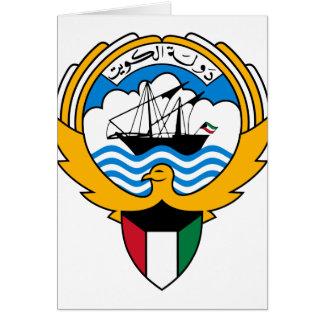 kuwait emblem greeting card