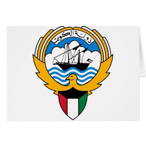 kuwait emblem greeting cards