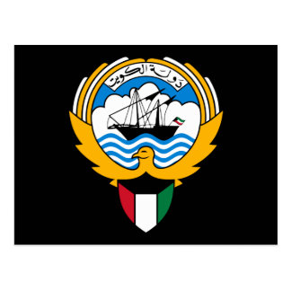 kuwait emblem postcard