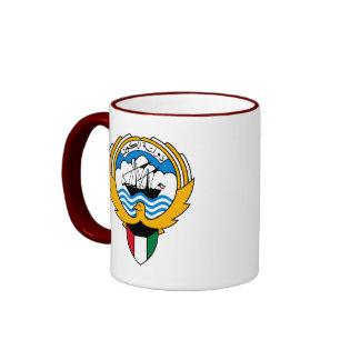 kuwait emblem ringer coffee mug