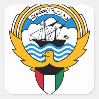 kuwait emblem square sticker