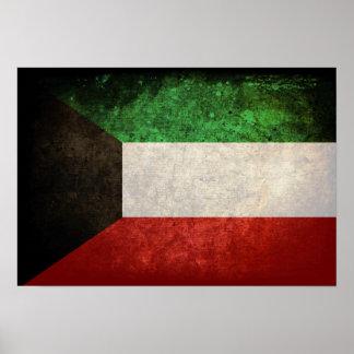 Kuwait Flag; الكويت Poster