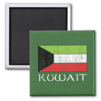 Kuwait Flag 2 Inch Square Magnet