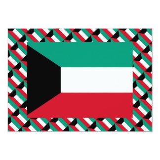 Kuwait Flag 5x7 Paper Invitation Card