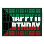 Kuwait Flag Birthday Card