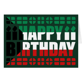 Kuwait Flag Birthday Card