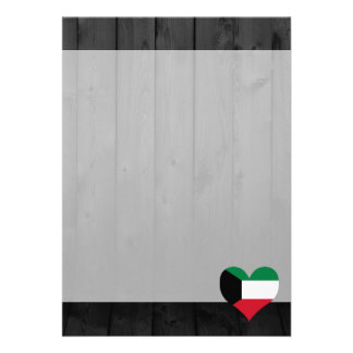 "Kuwait flag colored 5"" x 7"" invitation card"