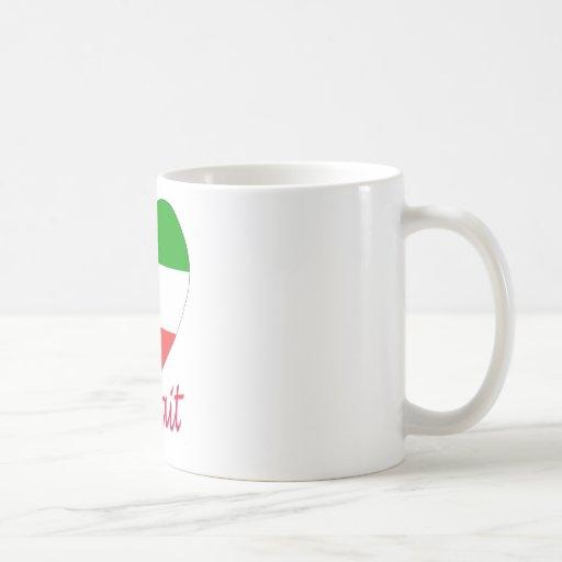 Kuwait Flag Heart Classic White Coffee Mug