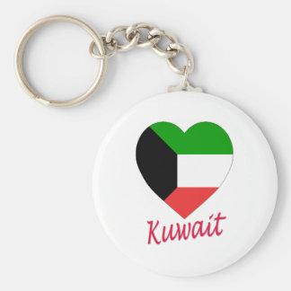 Kuwait Flag Heart Keychain