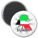 Kuwait Flag Map 2.0 Magnets