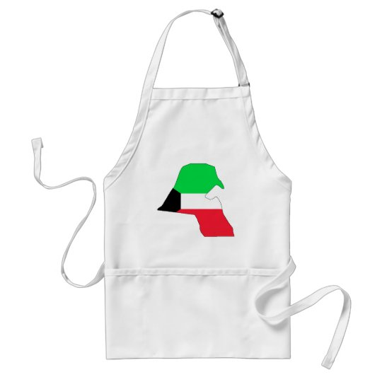 Kuwait flag map adult apron