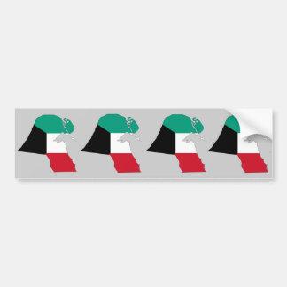 Kuwait Flag Map Car Bumper Sticker