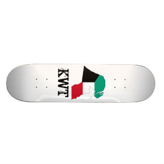 Kuwait Flag Map Skateboard Deck