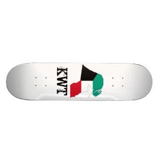 Kuwait Flag Map Skateboard Deck
