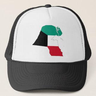 Kuwait Flag Map Trucker Hat