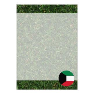 "Kuwait Flag on Grass 5"" X 7"" Invitation Card"