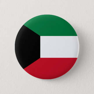 Kuwait Flag Pinback Button