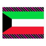 Kuwait Flag Post Card