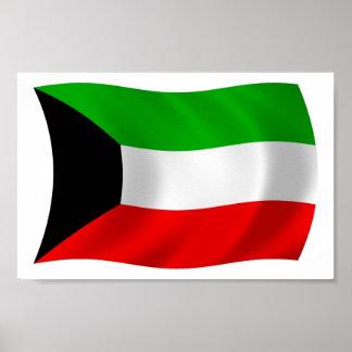 Kuwait Flag Poster Print