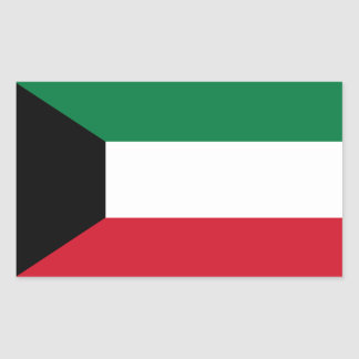 Kuwait Flag Rectangular Sticker