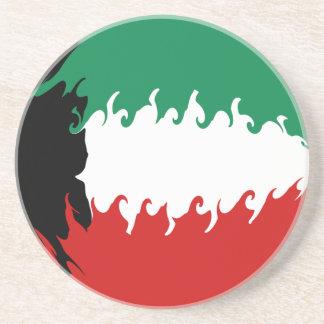 Kuwait Gnarly Flag Drink Coasters