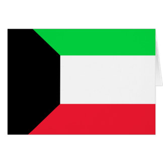Kuwait High quality Flag Cards